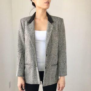 JW velvet collar and 100%Wool jacket.Vintage style